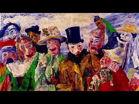 ROYAL ACADEMY  OF ARTS -  JAMES ENSOR's 1898 'BAL DU RAT MORT'