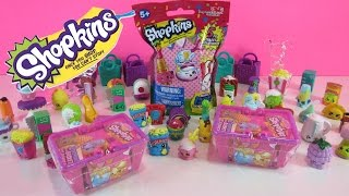 Opening Shopkins baskets and Shopkins Plush Hanger blind bag - CKC