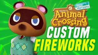 HOW To Design Fireworks in Animal Crossing New Horizons (ACNH Tips Custom Fireworks)