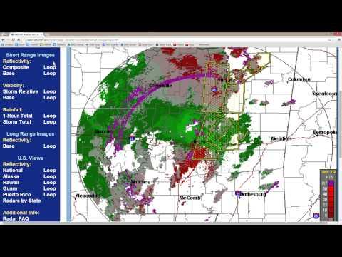 Doppler Radar: Mississippi Storms