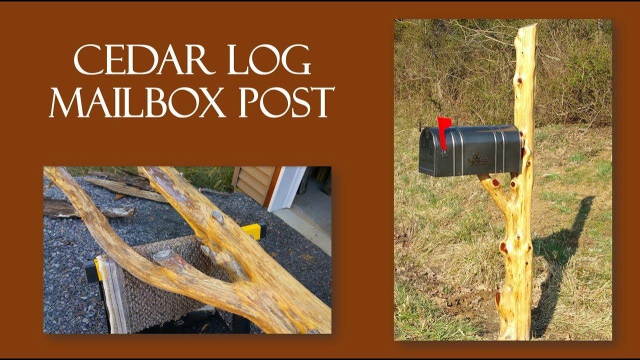 Diy Handcrafted Cedar Log Mailbox Post Youtube