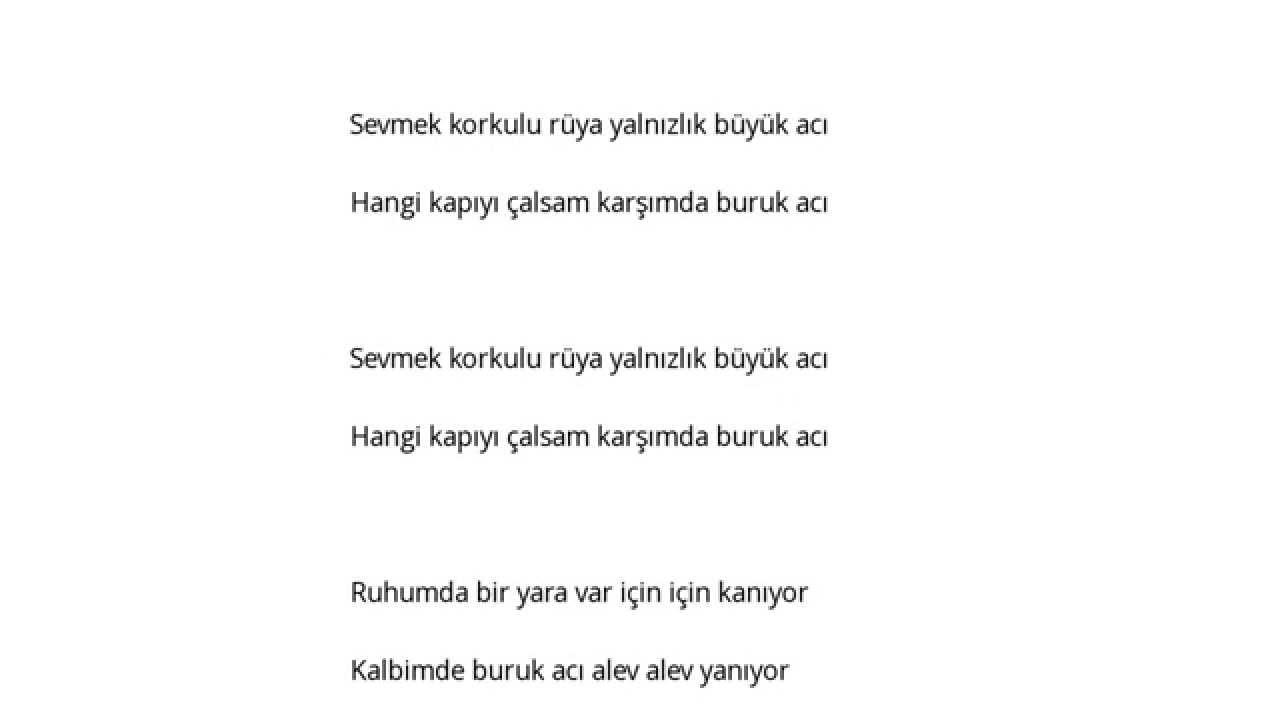 Gönül Yazar Büyük Acı şarkı Sözleri Lyrics Youtube