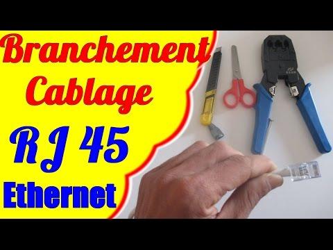 Comment fabriquer un c ble r seau ez rj45 doovi - Schema cablage rj45 ethernet ...