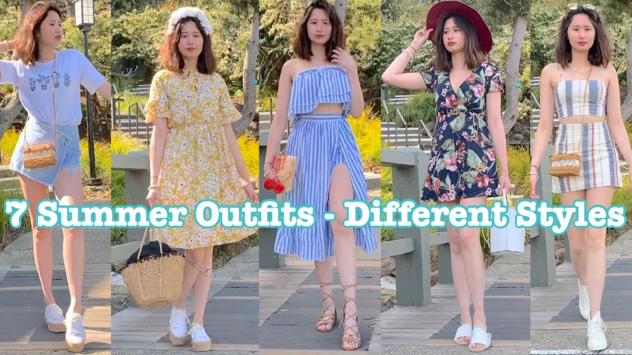 7 Summer Outfit Ideas   *CHEAP & AFFORDABLE!*   Summer Fashion Lookbook 2019 Series#1