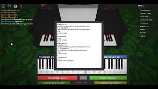 "Frank Sinatra ""Fly Me To The Moon"" Roblox Piano / Virtuelles Klavier [NOTES IN DESC]"