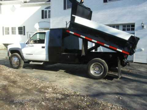 1998 chevrolet 3500 hd vortec 41k miles 7 4 8 foot dump truck video! -  youtube