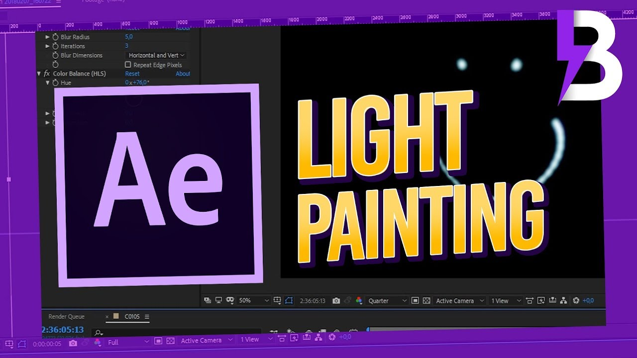 how to create light painting in after effects