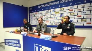 Pressekonferenz - 1. FC Magdeburg gegen SV Werder Bremen II 1:1 (0:0) - www.sportfotos-md.de
