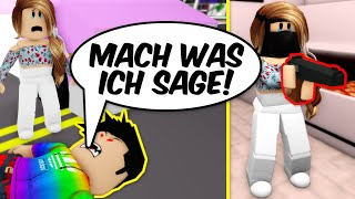 Paul erpresst Lilly DAS ZU TUN! in Brookhaven Story Roblox Deutsch