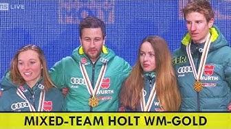 Deutschland holt Gold im Mixed | Ski WM 2019 | Markus Eisenbichler | Katharina Althaus | Karl Geiger