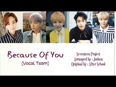 Seventeen (Vocal Team) - Because Of You Lyric (Han/Rom/Indo)