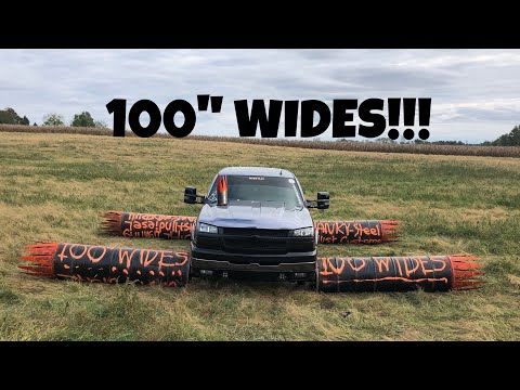 HOW WIDE CAN YOU GO?! 100 WIDES ON MY DURAMAX!!!