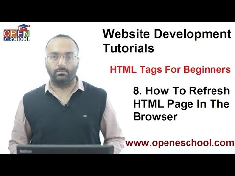 HTML Tags For Beginners (HTML Tutorials) - Tutorial 8 - How To Refresh HTML Page ?