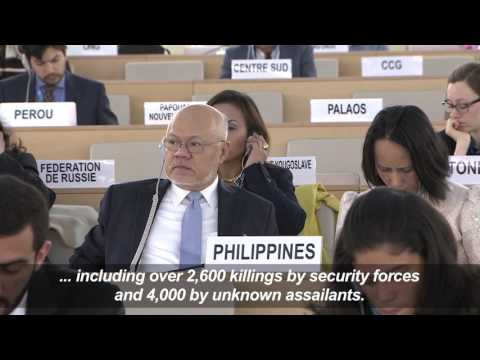PH drug war under fire at UN rights council