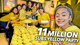 11 MILLION Subscribers EVERYTHING YELLOW Party!! (WOHOO!) | Ranz and Niana