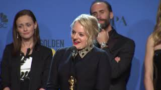 The Handmaid's Tale: Golden Globe Awards Backstage Interview (2018)
