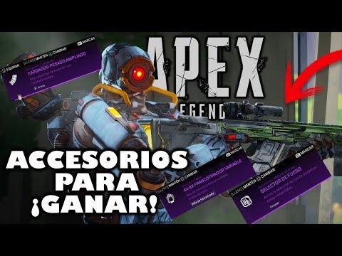 APEX LEGENDS ¡ACCESORIOS PARA TUS ARMAS! ¡USALOS Y...GANA! ¿como se usan?