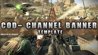 Call of Duty: Channel Banner Template (Speed Art)