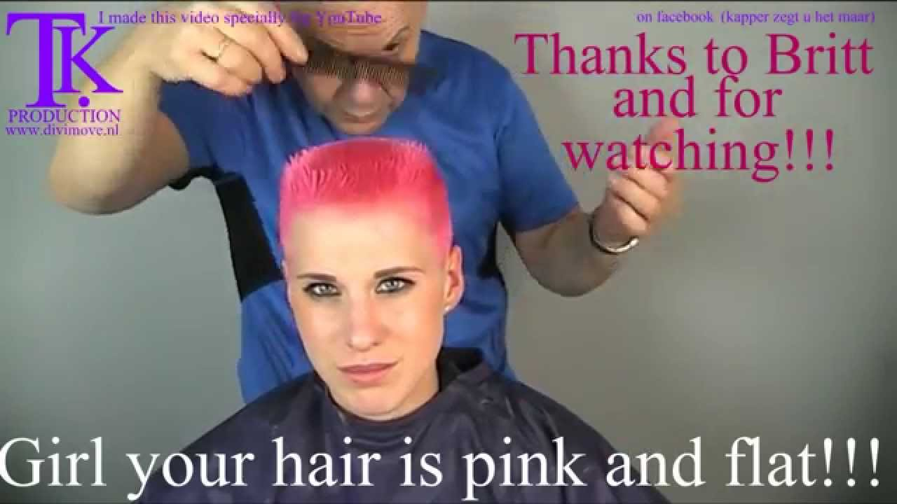 Girl Your Hair Is Pink And Flat Britt By Theo Knoop Youtube
