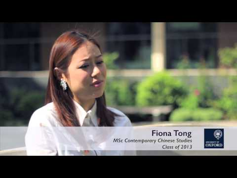 Oxford Sino Alliance - Masters in Contemporary Chinese Studies at Oxford | Alumni Network
