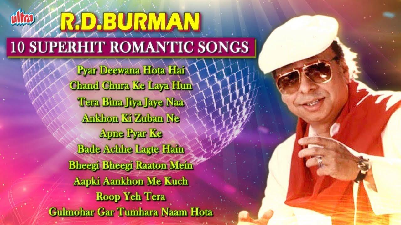 आर.डी बर्मन - R D Burman Ke 10 SuperHit Gaane Full HD Romantic Songs : Retro Bollywood Video Jukebox