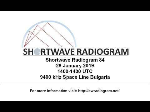 Shortwave Radiogram #84, 26 January 2019, 9400 kHz, 1400