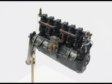 How to build Daimler Mercedes D.III Engine 160 ps - 1:32 WINGNUT WINGS