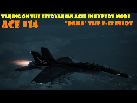 "Ace Combat 6: Ace No 14 ""DAMA"" The F/A-18 Pilot"