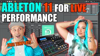 Ableton Live Performance Setup for DJs & Bands (FREE ABLETON TEMPLATE) | Ableton Live 11 Tutorial