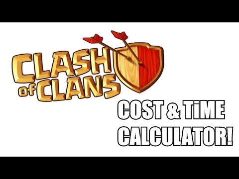 Clash of clans - Cost and Time calculator!!!