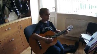 Kiss by Prince  played by 8 year old Chet