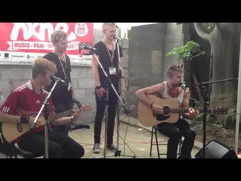 A Friend In London - Acoustic Cover Medley @ NXNE Hangover BBQ - Toronto, ON (June 17 2012)