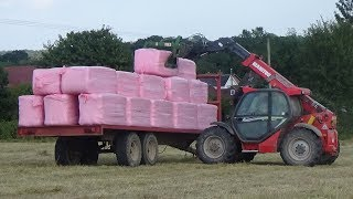Loading & Wrapping Bales for Haylage with Manitou & Fendt with new Kuhn