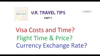 U.K. Travel Tips in Hindi on Visa, Air ticket & Currency | Low Costs and Money saving Tips