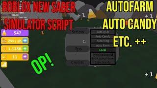 Roblox NEW Saber Simulator GUI [ AUTO FARM , INFINITE CANDY, +++]