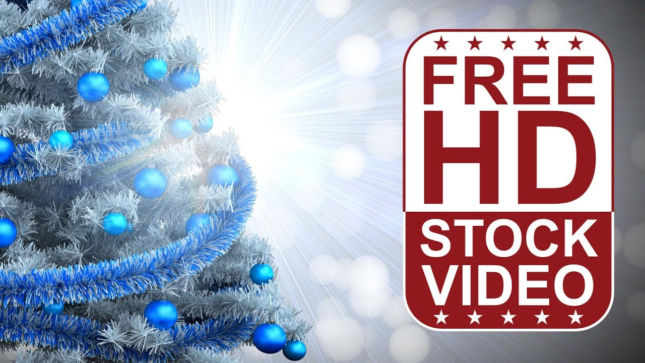 free hd video backgrounds – celebrations – white christmas tree