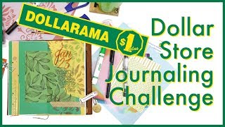 Dollar Store Journaling Challenge | Journal with Me