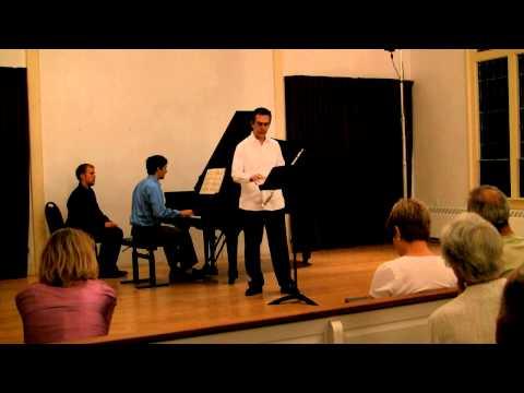 Bohuslav Martinu, Martinu - Sonata for Flute - Allegro Moderato - Marco Granados, Hugh Hinton
