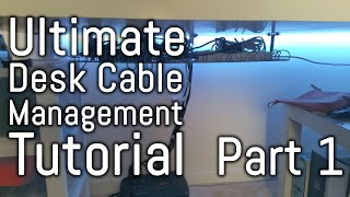 Desk Cable Management Guide - Part 1 - With Ikea Signum