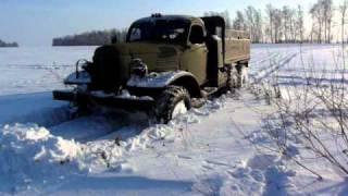Зимние покатушки на ЗИЛ-157, январь 2011.