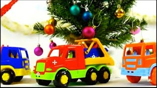 Tree Search - BOUNCY TOY TRUCKS! Christmas Toys Videos for kids - Toy Trucks Stories for Children