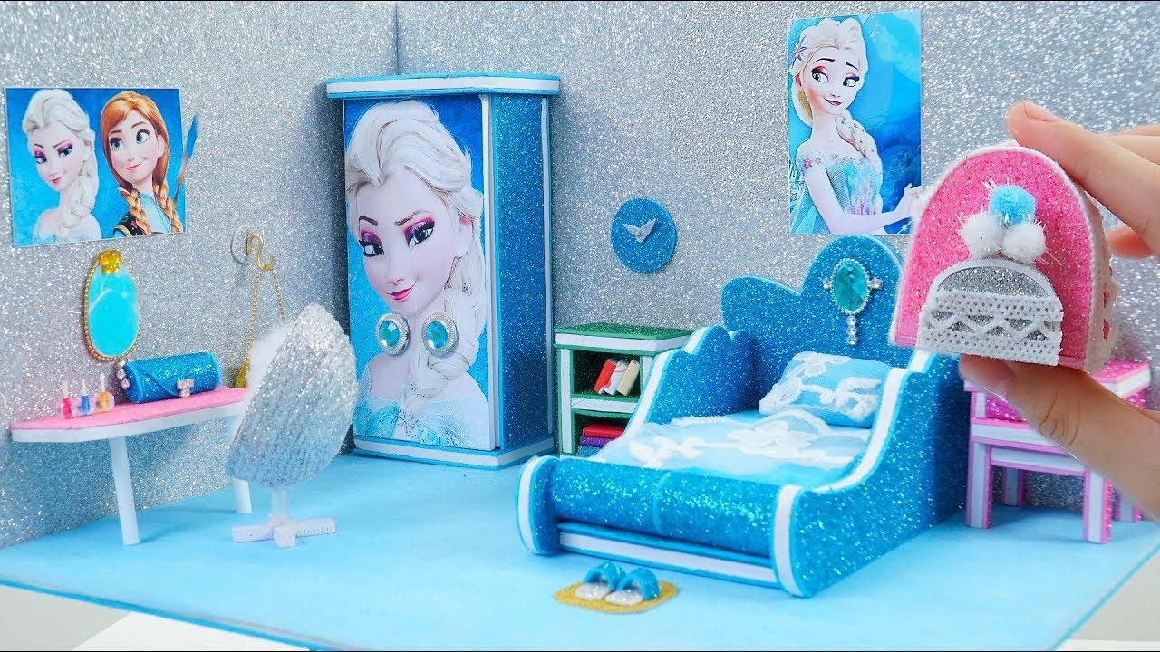 Cheap Bedroom Sets Kids Elsa From Frozen For Girls Toddler: DIY Miniature Dollhouse Room
