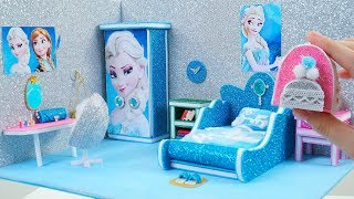 DIY Miniature Dollhouse Room ~ DIY Miniature Frozen Bedroom ~ Frozen Elsa Room Decor, Backpack