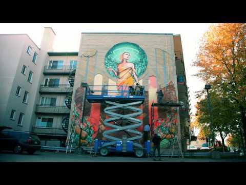 """A'shop """"Notre-Dame-de-Grâce/ Our Lady of Grace"""" Mural"""