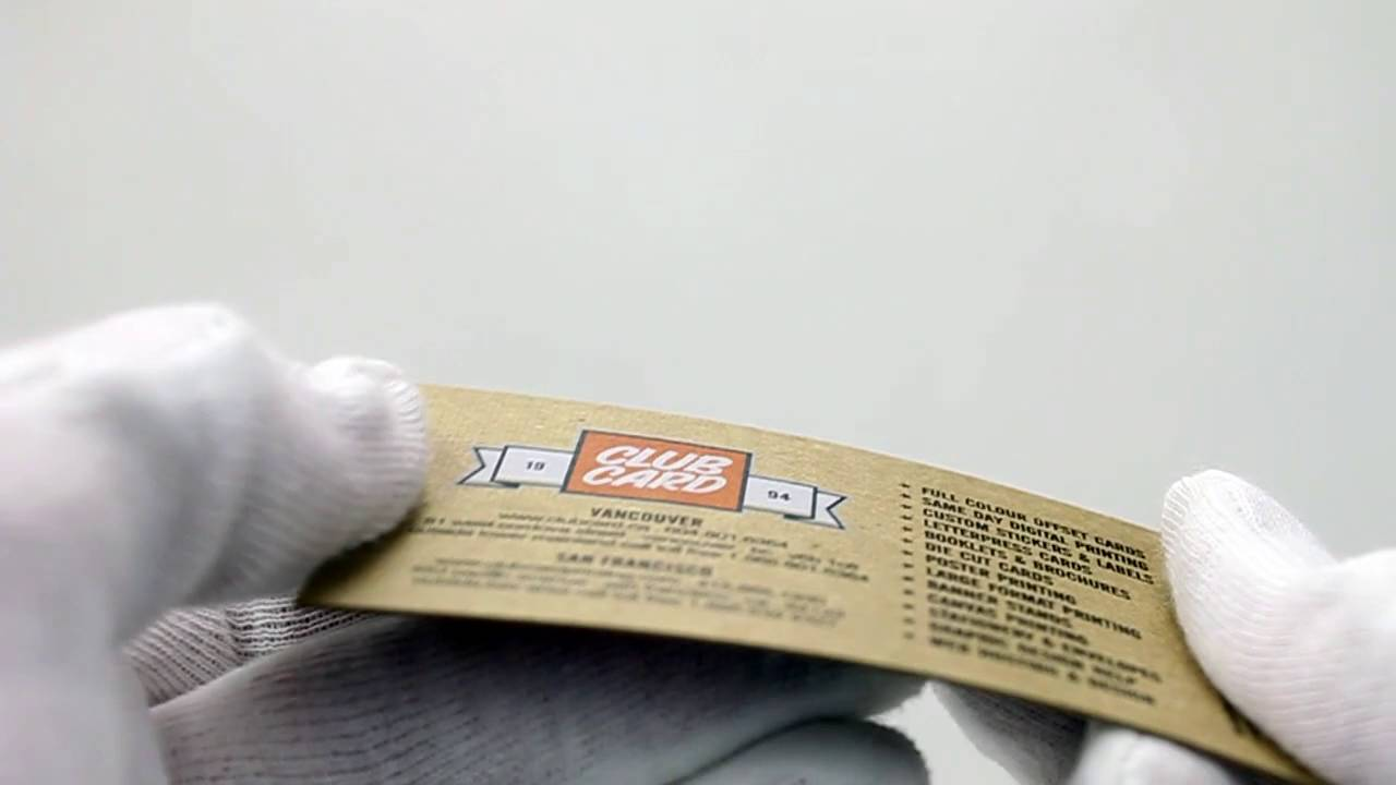 24pt Kraft Business Card | Clubcard TV - YouTube