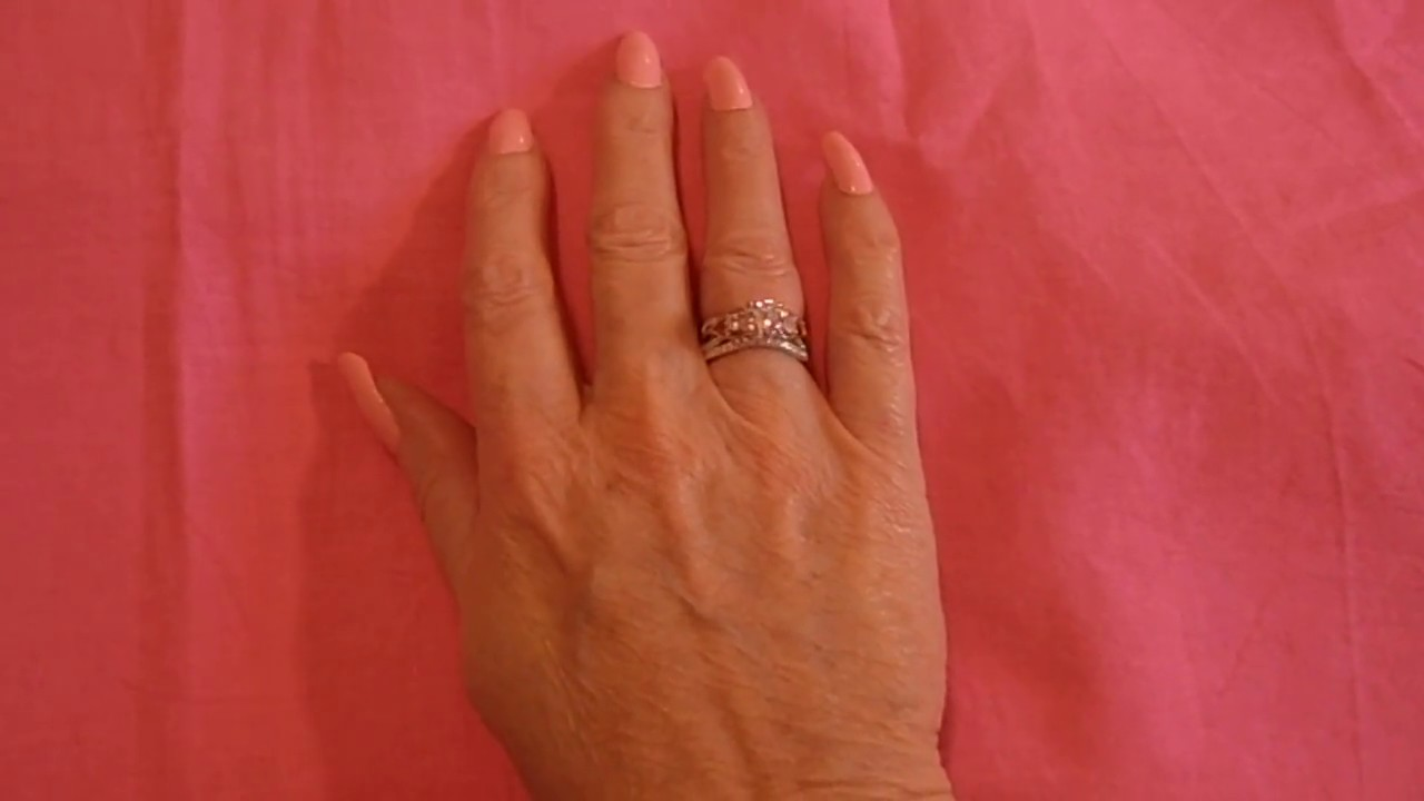 Jeulia Jewelry Three Stone Two Tone Round Cut Created White Sapphire Wedding Set