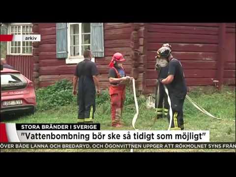 Stora bränder i Sverige - Nyheterna (TV4)