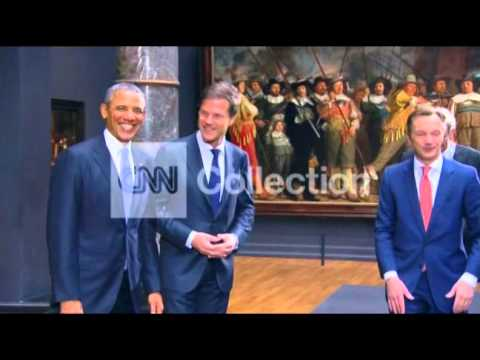 NETHERLANDS: OBAMA TOURS MUSEUM