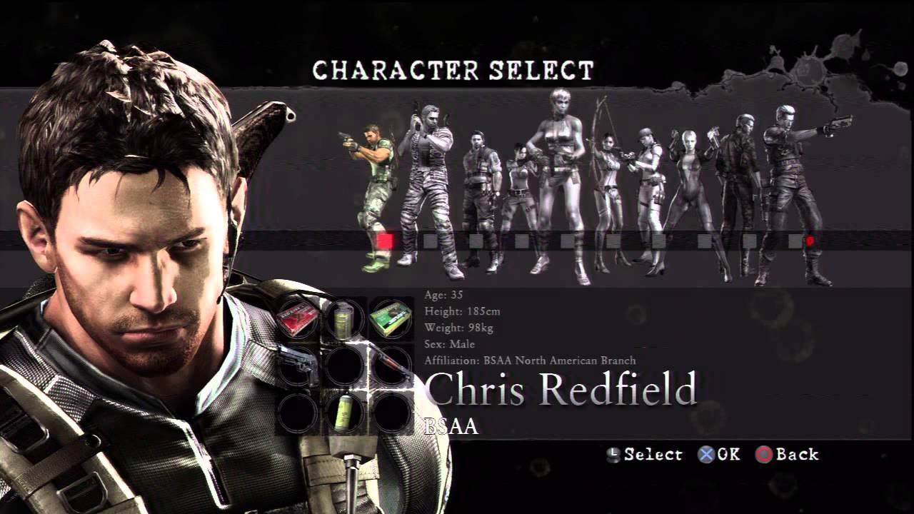 Resident Evil 5 Versus Characters Youtube