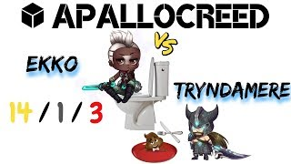 Apallocreed   Ekko vs TRYNDAMERE Top Ranked Patch 8.11